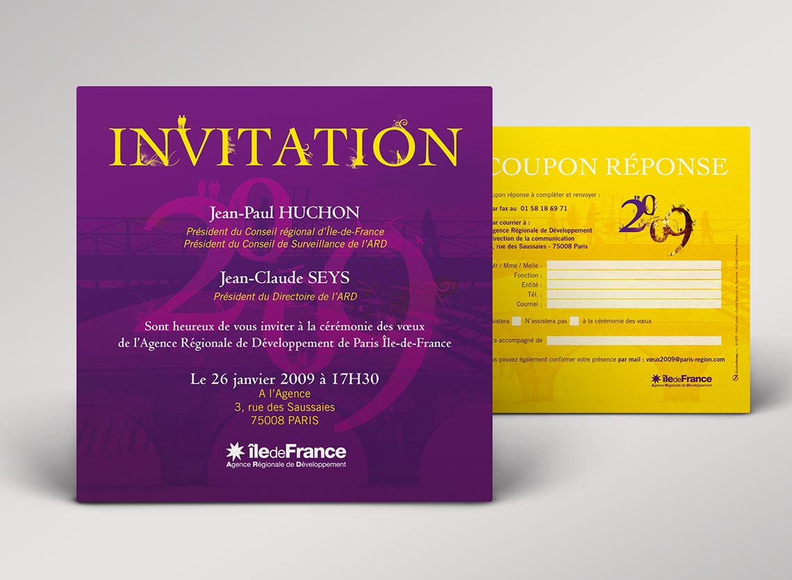 Extrêmement Création invitation entreprise, tarif exemple impression invitation YV93
